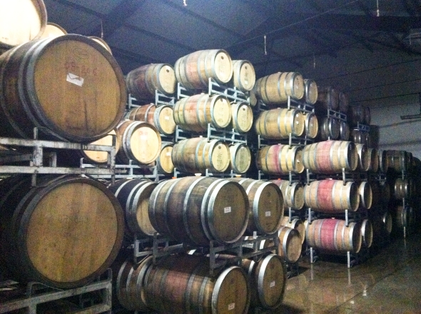 Barrel room at Sula