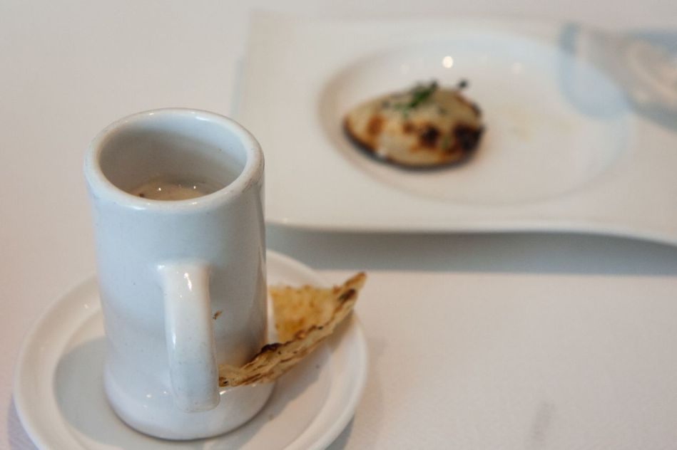 Danish Blue Cheese Naan & Mushroom Soup